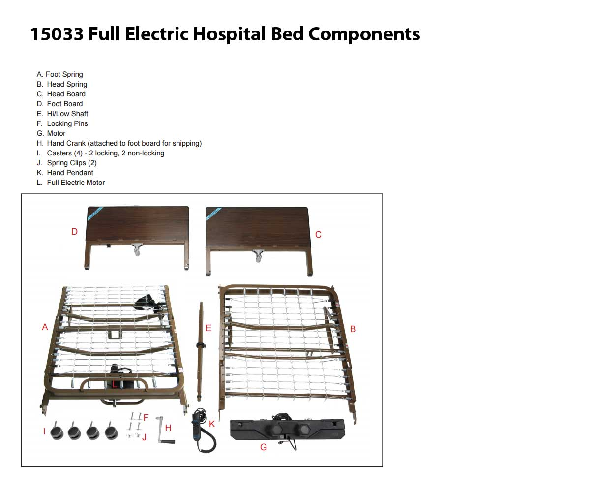 15033 Hospital Bed Components
