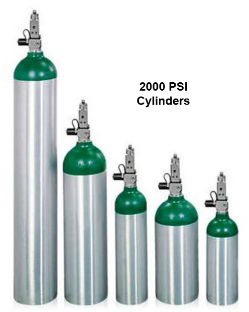 UltraFill 2000 psi Compatible Oxygen Tanks