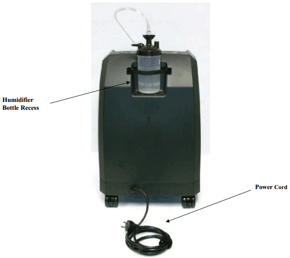 VisionAire 2 Concentrator Rear Features