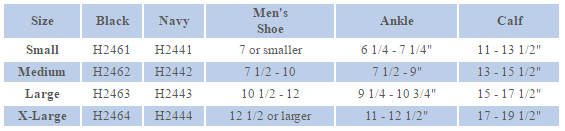 Activa Size Chart