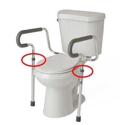 Toilet Safety Rail Adjustable Height