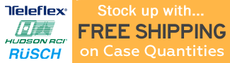 Free Shipping on Cases of Teleflex, Rusch, and Hudson RCI products!