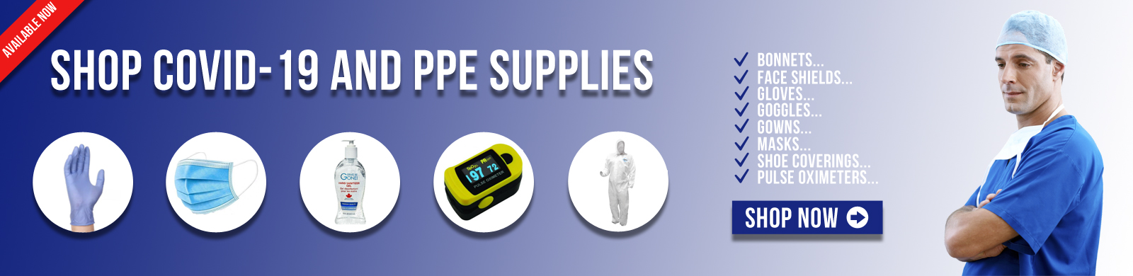 Shop Covid-19 (Coronavirus) and PPE (Personal Protective Equipment) Supplies!