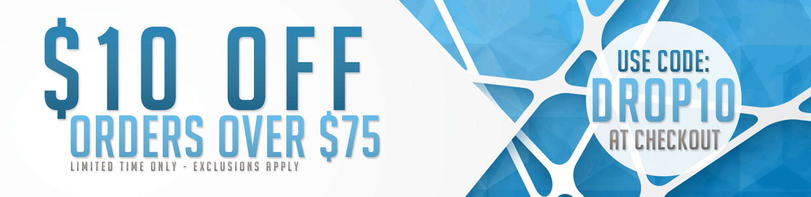 Save $10 on Most Orders Over $75
