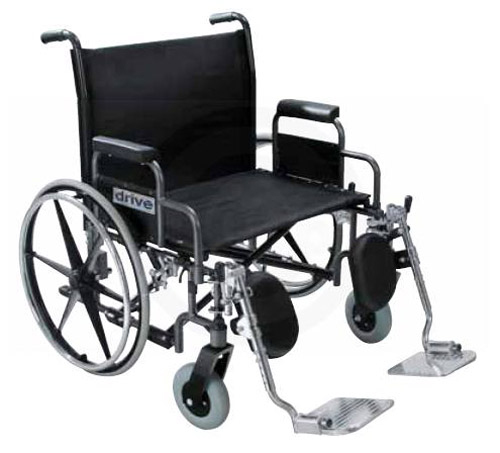 Drive 26 Inch Sentra Extra Wide Dual Axle Wheelchair