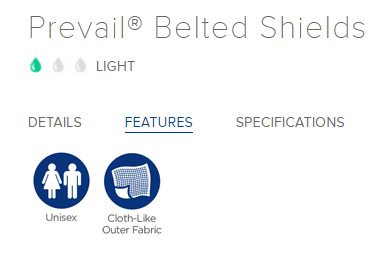 Prevail Belted Shields Features