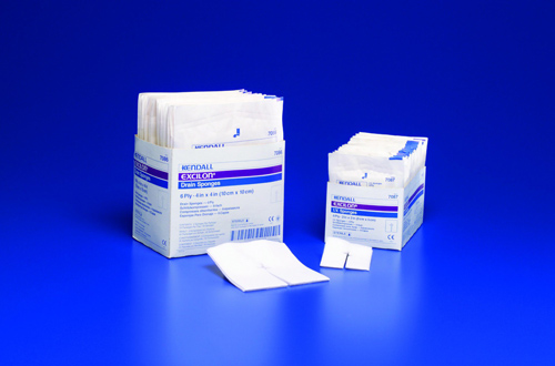 Kendall EXCILON Trach Drain Sponge SKU:7086, 4 x 4 Inch -  6-ply - Sterile Box of 25 at Sears.com
