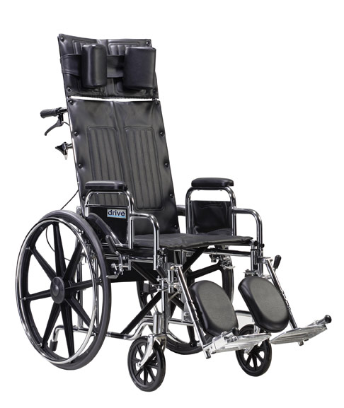 Sentra RECLINING Wheelchair with Various Arm Styles and Elevating Leg