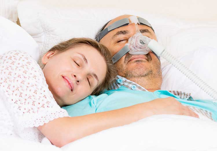 CPAP Patient Sleeping