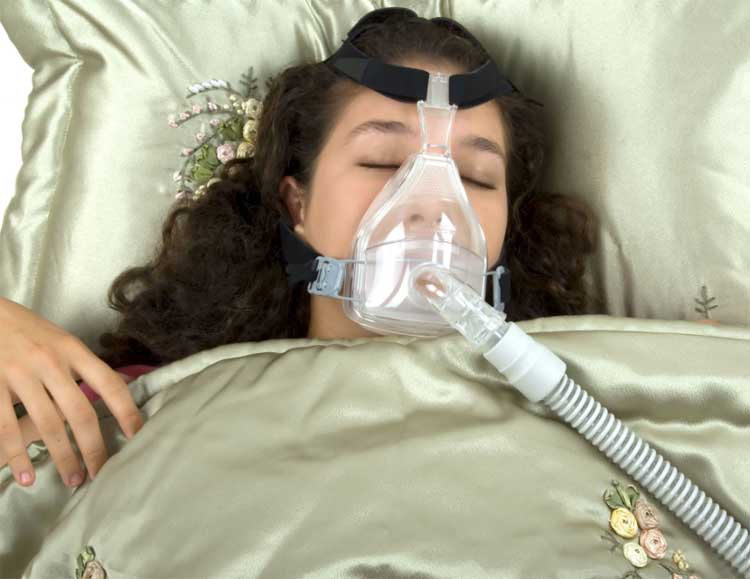 CPAP Patient Sleeping on Their Back