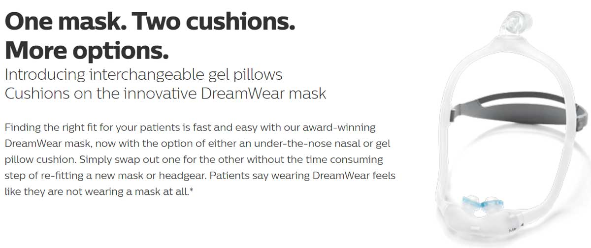 Nasal Pillows Options