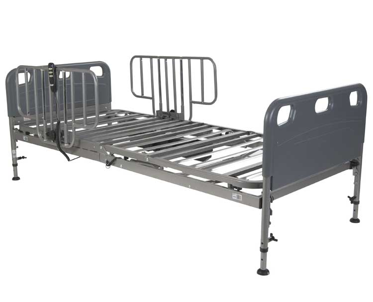 Competitor Semi-Electric Bed with Half Rail