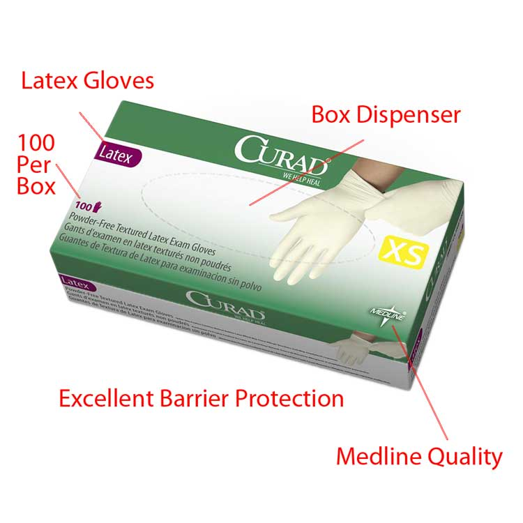 CURAD Latex Gloves