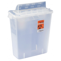 3 Gallon Clear SharpSafety Sharps Container with Always Open Lid 85221
