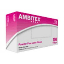 Ambitex Latex Exam Gloves Powder Free - NonSterile