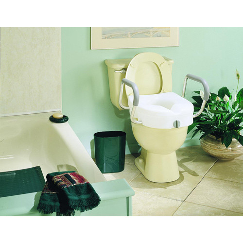 Ez Lock Raised Toilet Seat with Adjustable Arms