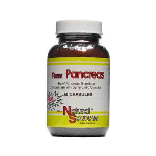 Raw Pancreas Glandulars Dietary Supplement