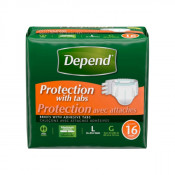 Depend Protection Briefs Heavy Absorbency