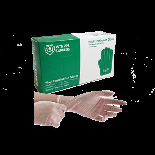 vinyl exam gloves 4ML worn on hand