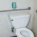 Sitter Elite Fall Monitor Alarm Mounted on Bathroom Wall