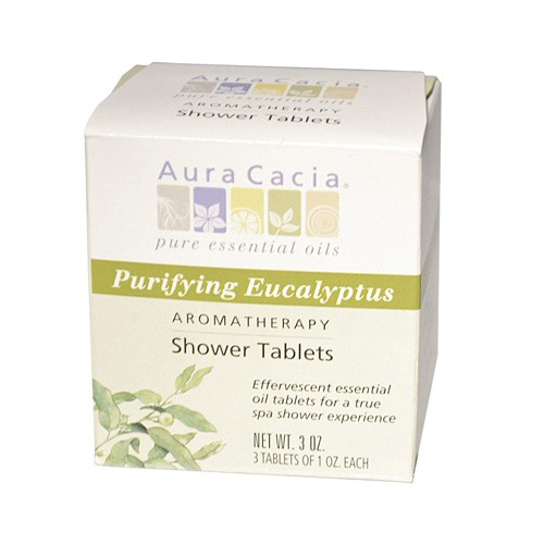 Aura Cacia Purifying Aromatherapy Eucalyptus Shower Tablets