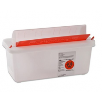 2 Quart Clear SharpSafety Sharps Container with Mailbox Style Lid 85021