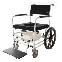 Activeaid 720 Bariatric Shower Chair w/ Standard Commode Seat and White Frame