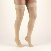 TRUFORM Women's TruSheer Thigh High Silicone Top Band 30-40 mmHg
