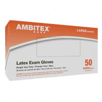 Ambitex Powder Free Latex Exam Gloves L620 Series
