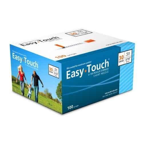 EasyTouch Insulin Syringe 1mL 30 Gauge
