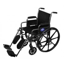 K1 Basic Extra-Wide Wheelchair with Removable Desk Length Arms