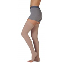 Juzo 3512AG Dynamic Thigh High Compression Stockings w/ Silicone Top Band OPEN TOE 30-40 mmHg