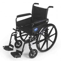 K4 Extra-Wide Lightweight Wheelchair with Removable Desk-Length Arms