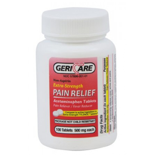 Extra Strength Acetaminophen Pain Relief Tablets - 500 mg