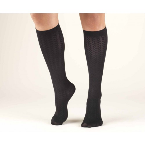 TRUFORM Women's Cable Knit Trouser Socks 10-20 mmHg