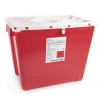 2 Gallon Red Prevent Sharps Disposal Container with Locking Translucent Lid 047