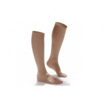 Shape To Fit Unisex Microfiber Medical Knee High Open-Toe Stockings 20-30 mmHg