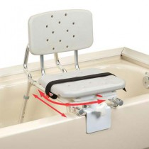 Transfer Bench Tub Mount with Back Swivel Molded Seat X-Short
