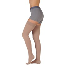 Juzo 3513AG Dynamic Thigh High Compression Stockings w/ Silicone Top Band OPEN TOE 40-50 mmHg