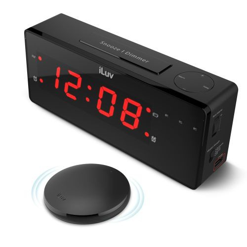 TimeShaker Boom Vibrating Alarm Clock with Wireless Bed Shaker