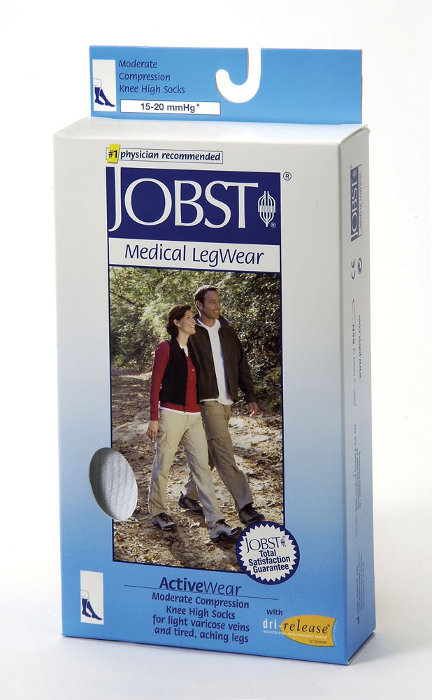 10b2e4d582 Jobst ActiveWear Athletic Compression Socks Knee High 15-20 FREE S&H ...