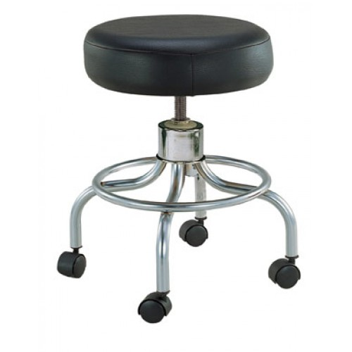 Round Swivel Stool with Wheels