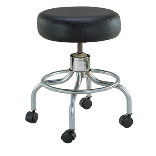 Round Swivel Stool With Wheels 13034