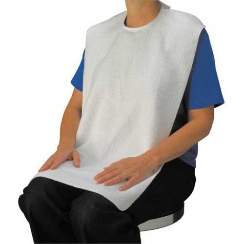 Adult Bibs White Terry Cloth