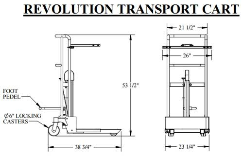 aqua creek pool lift transport cart 35b
