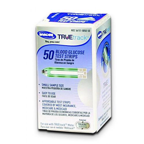 Invacare TrueTrack Blood Glucose Test Strips