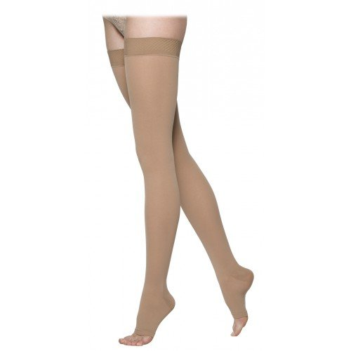Sigvaris 860 Select Comfort Thigh High Compression Stockings - 862N OPEN TOE 20-30 mmHg