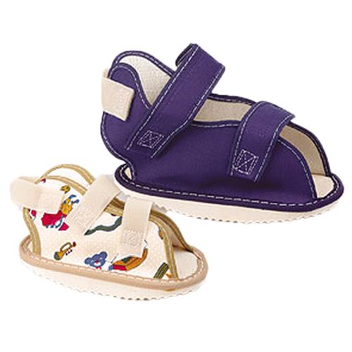 Pediatric Canvas Rocker Bottom Cast Shoe