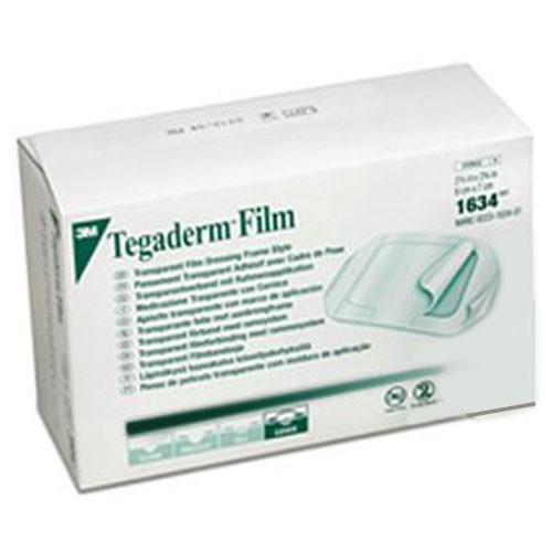 Tegaderm 1634 Transparent Film Dressing By 3m 2 3 8 X 2 3 4