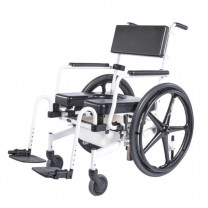 ActiveAid 1100 Rehab Shower/Commode Chair-Seat Height/Slope Adjustable